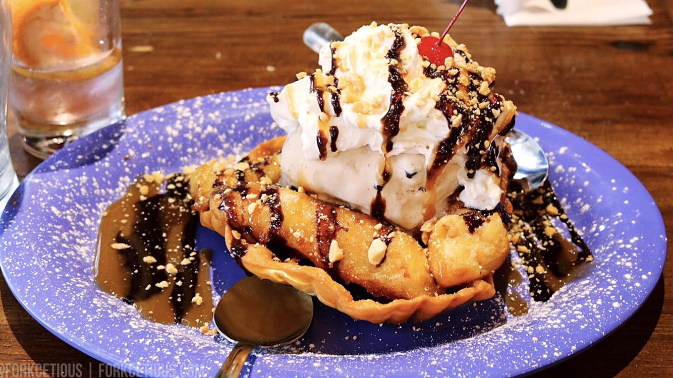 Fried Elvis Sundae